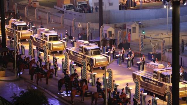 desfile, procesión, momias, Egipto