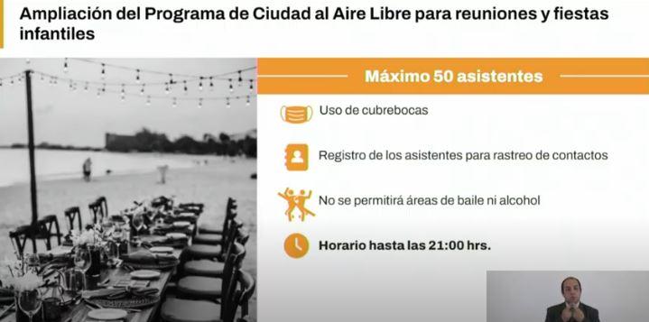 Permitirán reuniones y fiestas infantiles al aire libre en la Ciudad de México