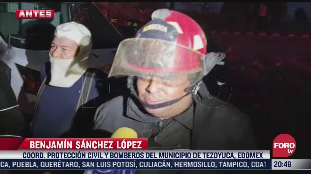 proteccion civil confirma que no hay victimas en incendio tezoyuca