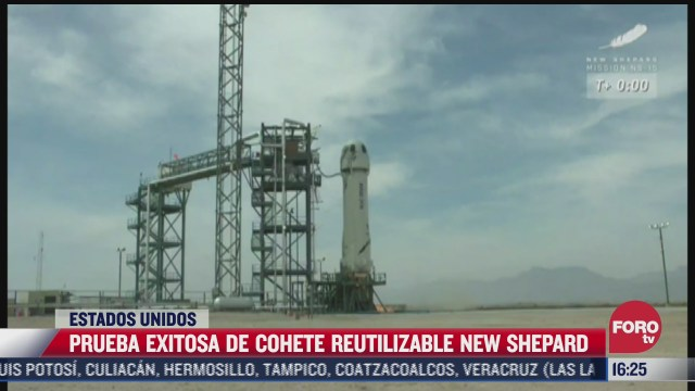 realizan prueba exitosa de cohete reutilizable new shepard