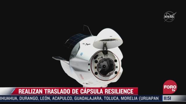 realizan traslado de capsula resilience