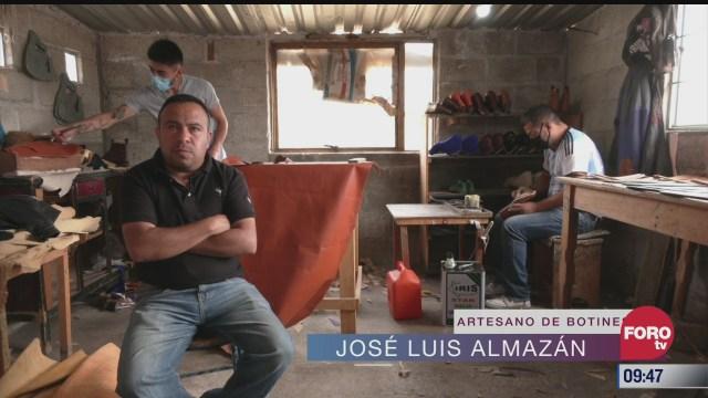 retratos de mexico artesanos de botines