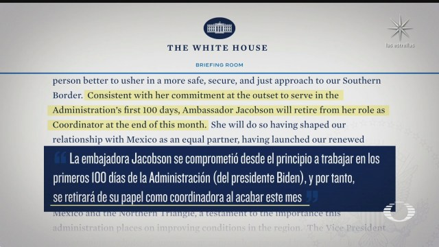 roberta jacobson dejara el cargo de coordinadora de la frontera sur