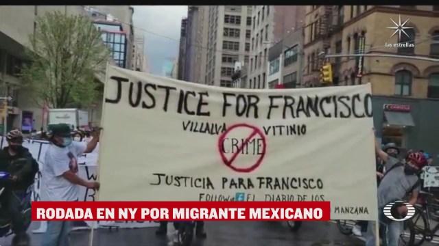 rodada en nueva york por migrante mexicano