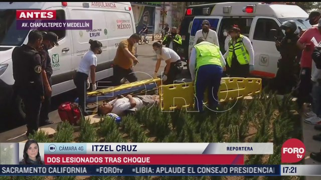 se impactan motocicletas en avenida chapultepec