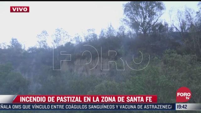 se registra incendio forestal en zona de pastizal de santa fe