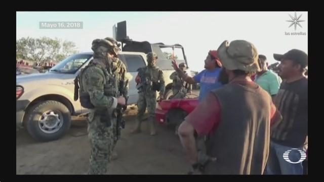 semar pone a disposicion de la fgr 30 elementos por desaparicion de personas en tamaulipas