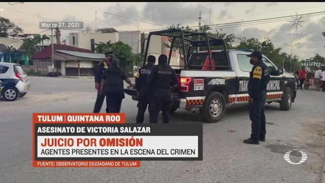 testigos del arresto de victoria en tulum aseguran que eran seis los policias involucrados