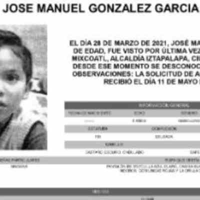 Activan Alerta Amber para localizar a José Manuel González García