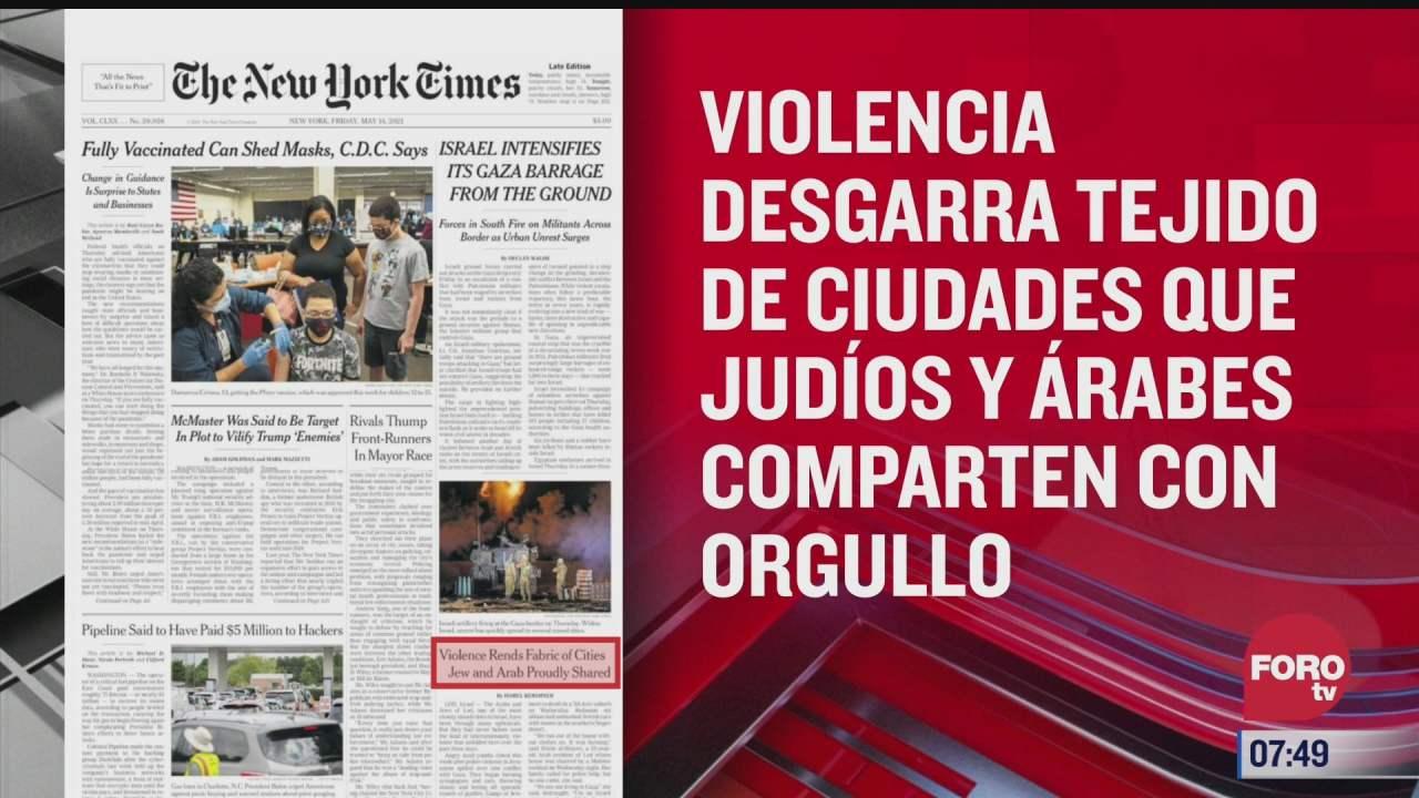 analisis de las portadas nacionales e internacionales del 14 de mayo del