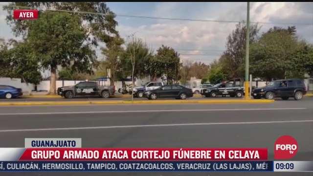 ataque armado durante funeral en celaya deja un muerto y dos heridos