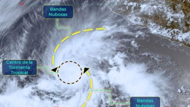 Tormenta tropical 'Blanca', a 840 kilómetros de Cabo Corrientes, Jalisco (Conagua)