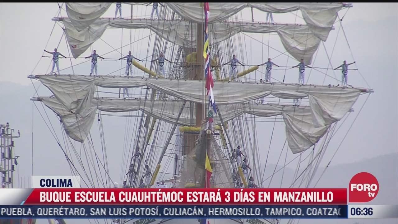 buque escuela cuauhtemoc estara tres dias en manzanillo