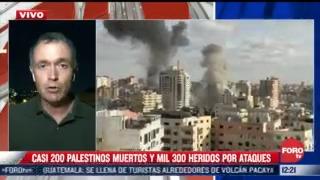 casi 200 palestinos muertos durante bombardeos de israel
