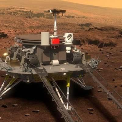 China logra posar pequeño robot en Marte