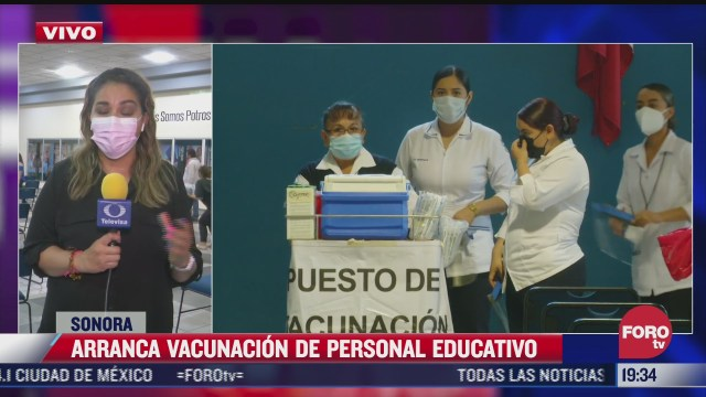 comienza vacunacion para personal educativo en sonora