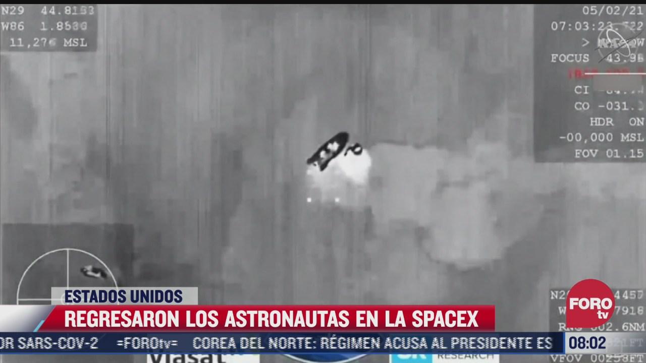 concluye exitosamente primera mision espacial tripulada con naves space x