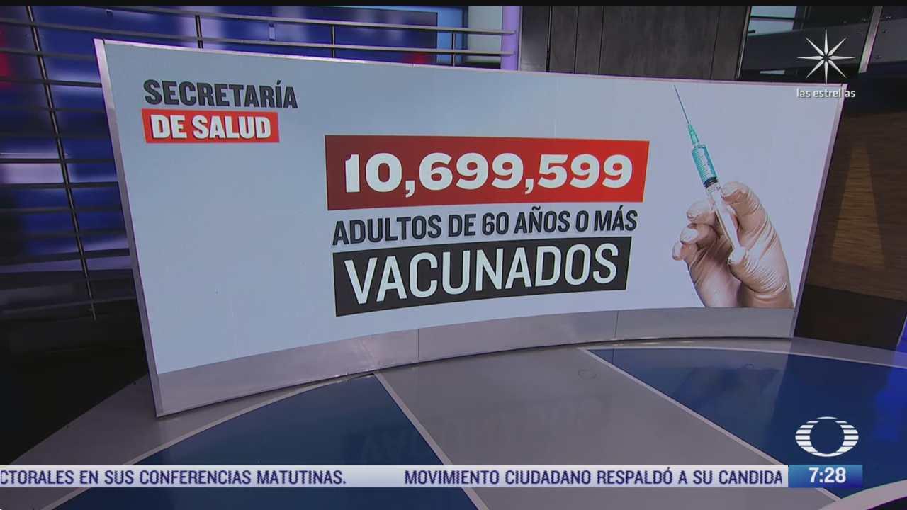 cual es el balance de vacunacion de segunda dosis en mexico