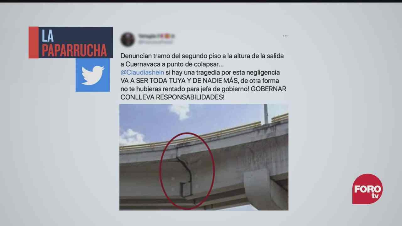 denuncias por afectaciones del metro y puentes vehiculares la paparrucha del dia