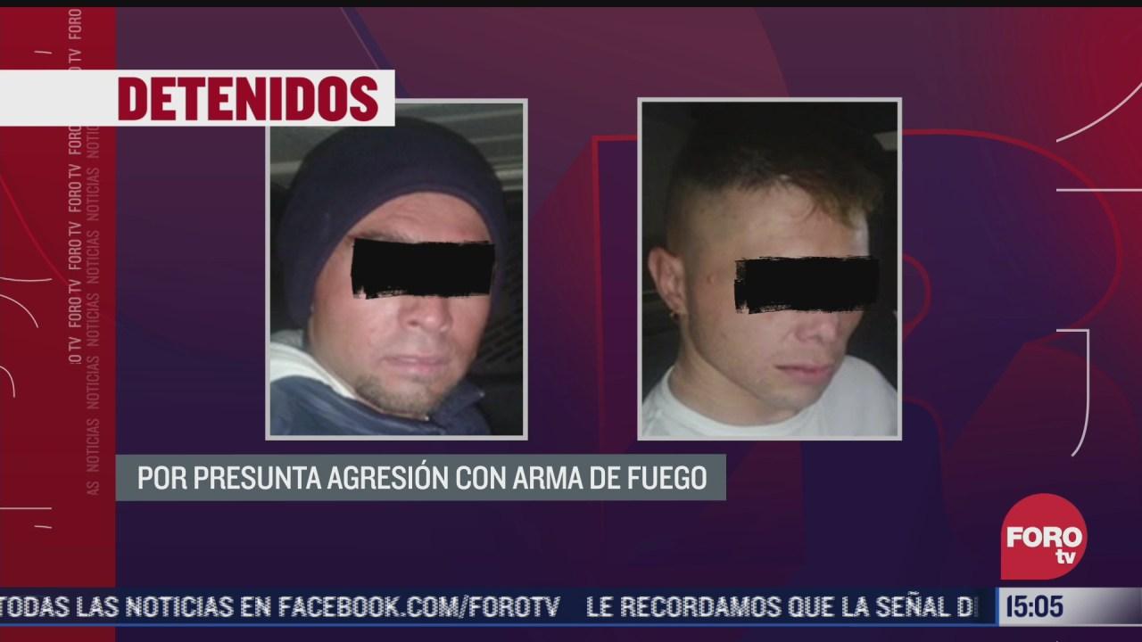 detienen a 2 hombres con un arma y droga en la alcaldia tlalpan