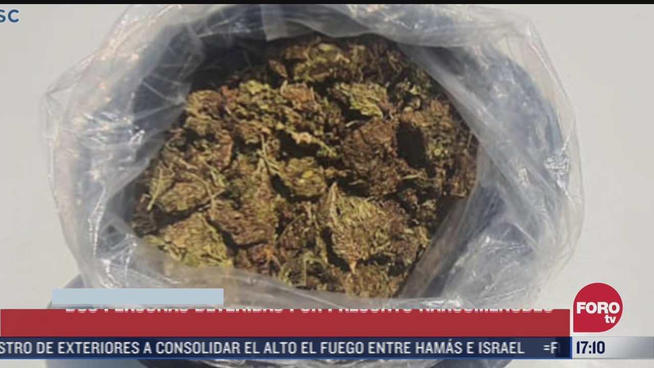 detienen a 2 personas por narcomenudeo en plaza garibaldi