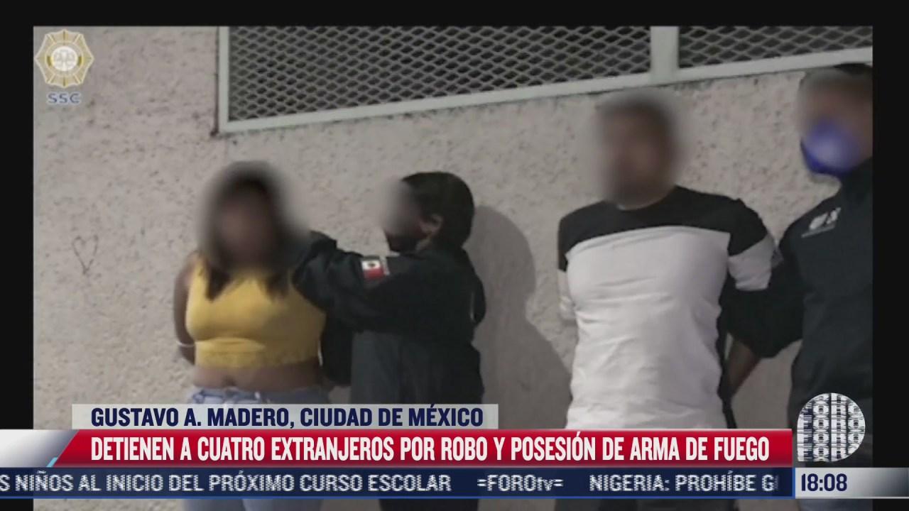 detienen a 4 extranjeros por robo en la gam de cdmx