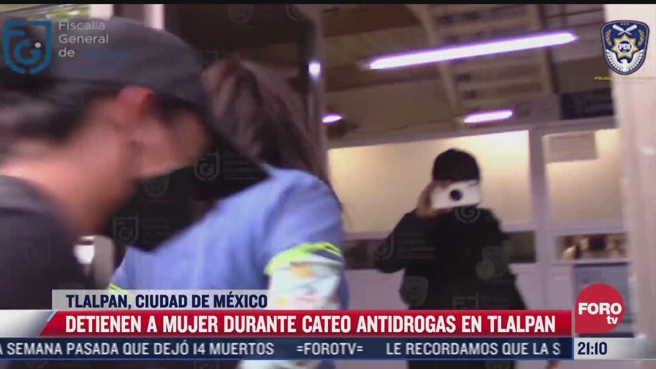 detienen a mujer durante cateo antidrogas en tlalpan