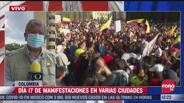 dia 17 de manifestaciones en ciudades colombianas