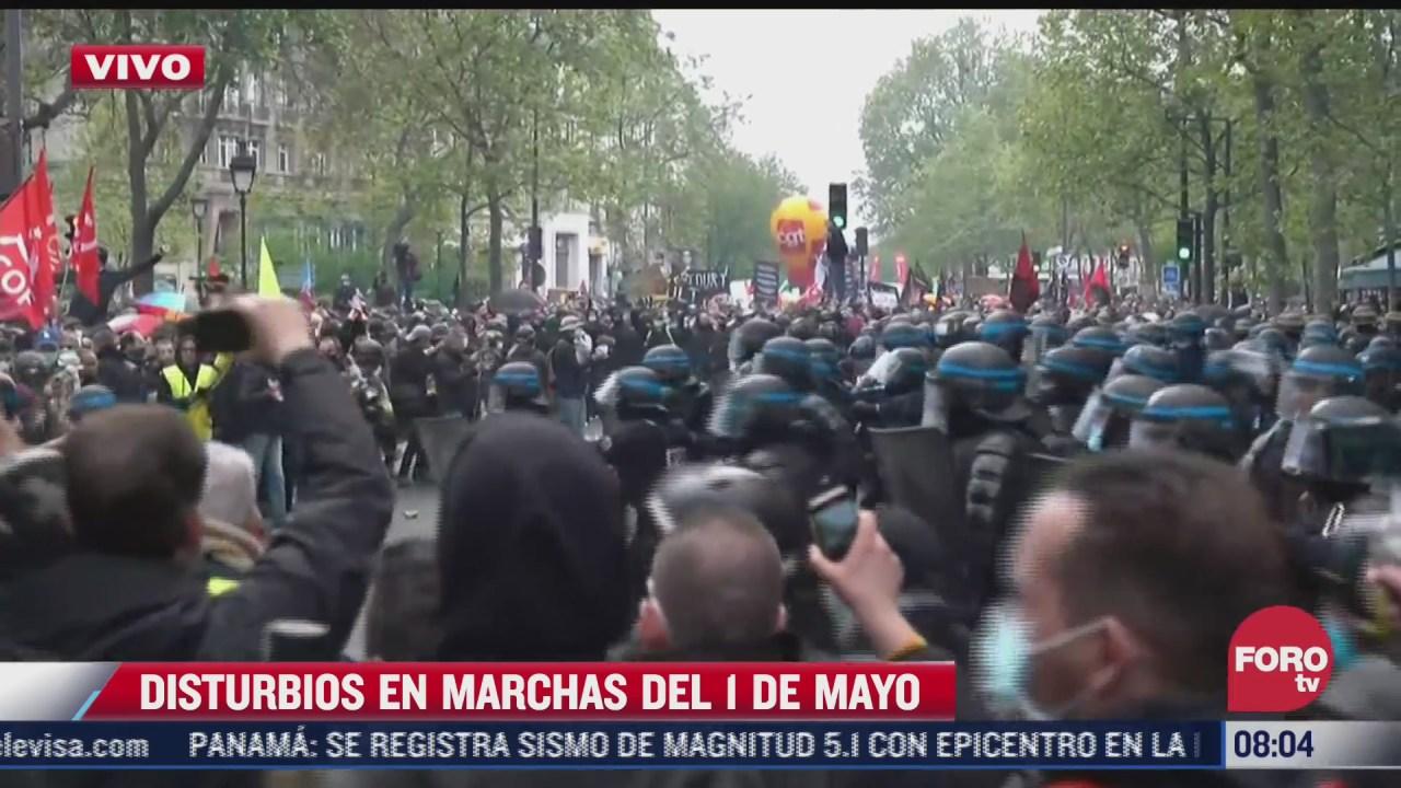 disturbios en marchas del 1 de mayo en paris francia