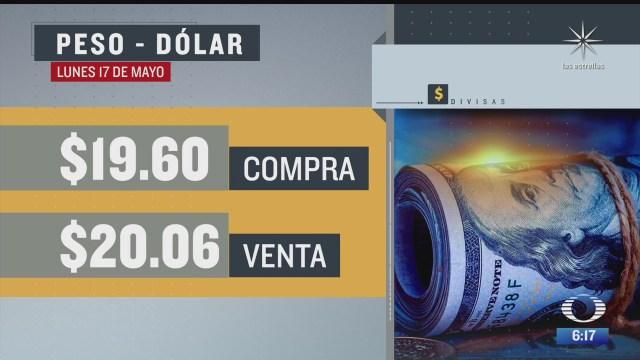 el dolar se vendio en 20 06 en la cdmx del 17 de mayo del