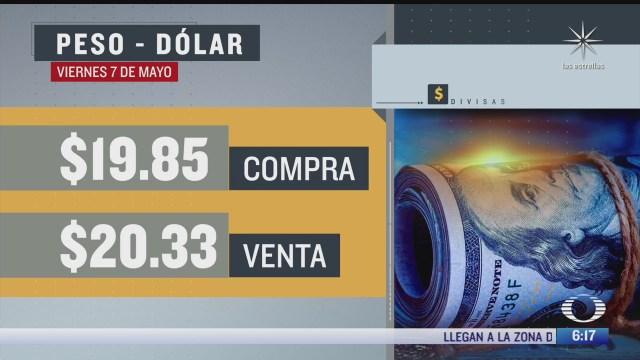 el dolar se vendio en 20 33 en la cdmx del 7 de mayo del