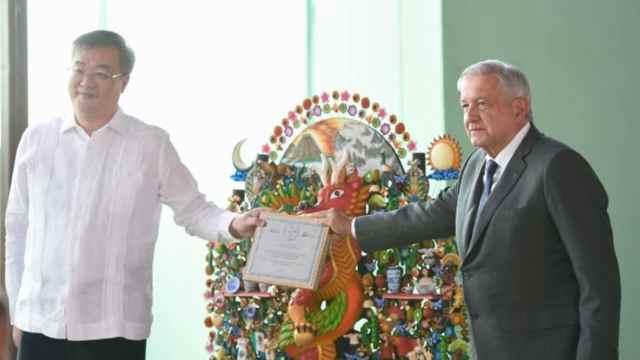 El embajador chino en México y el presidente López Obrador