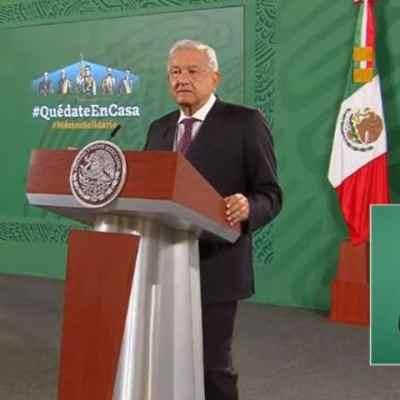El presidente de México, Andrés Manuel López Obrador en Palacio Nacional