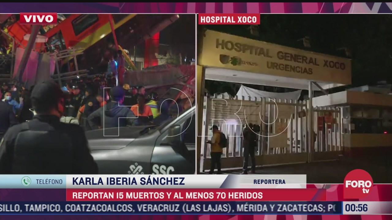 estos son los hospitales a donde fueron trasladados los lesionados del accidente en metro
