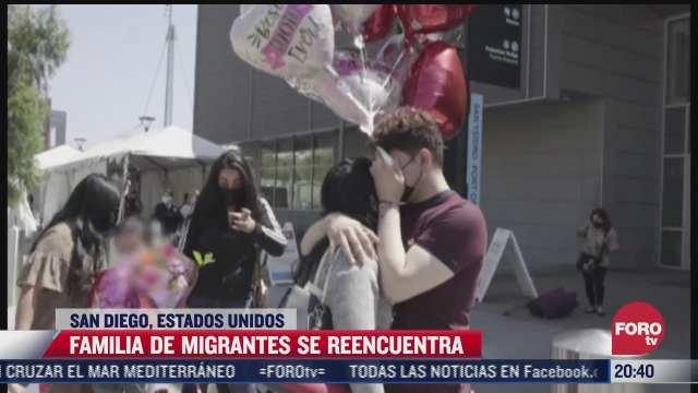 familia de migrantes se reencuentra en eeuu