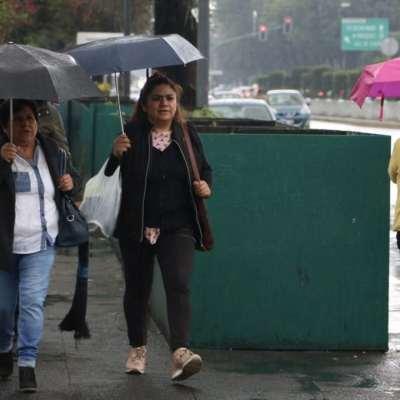 Se registran lluvias en la CDMX tras activación de la Alerta Amarilla en ocho alcaldías