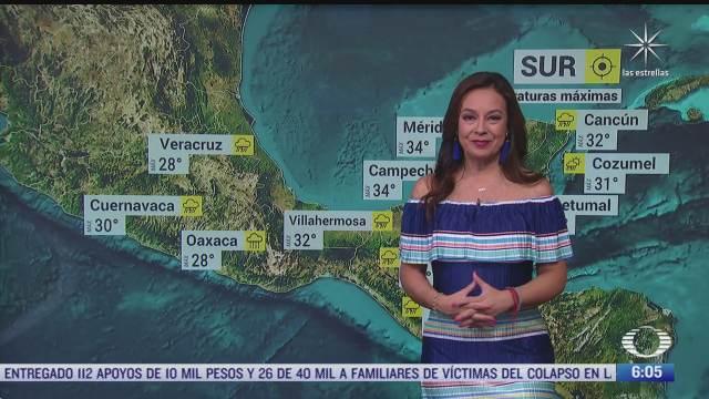 frente frio provocara lluvias en noreste oriente centro y sureste de mexico