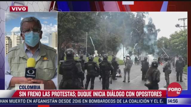 gobierno de colombia inicia dialogo con opositores