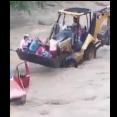 Granizadas y lluvias afectan a Chihuahua, Puebla y Guerrero; rescatan a familias de río