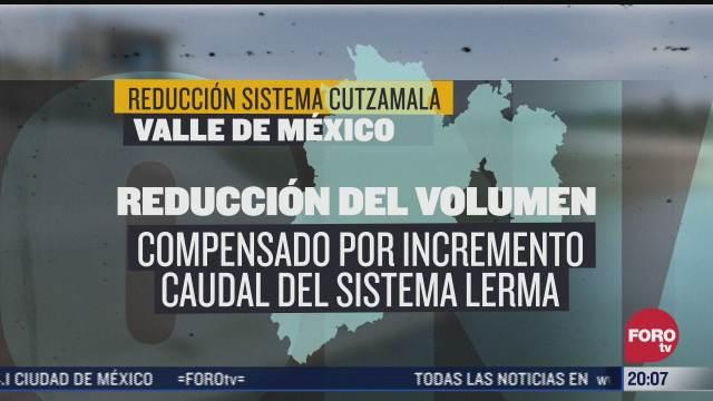 habra reduccion en suministro de agua en el valle de mexico