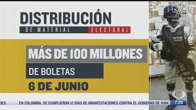 inicia distribucion de materiales para elecciones del 6 de junio