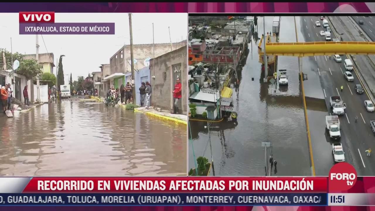 inundaciones alcanzan los 50 centimetros en ixtapaluca estado de mexico
