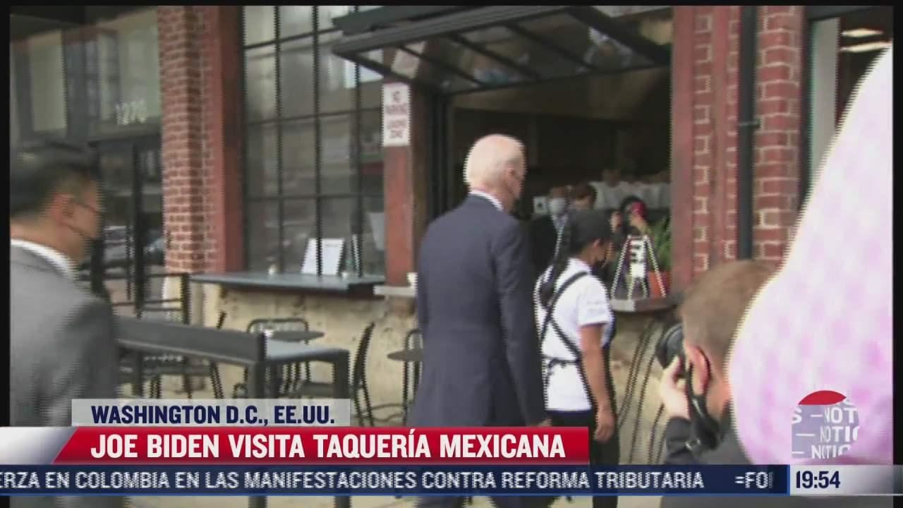 joe biden visita taqueria mexicana