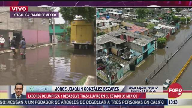 las mayores afectaciones por lluvias estan ixtapaluca valle de chalco y la paz caem