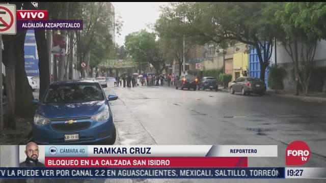 manifestantes bloquean calzada san isidro