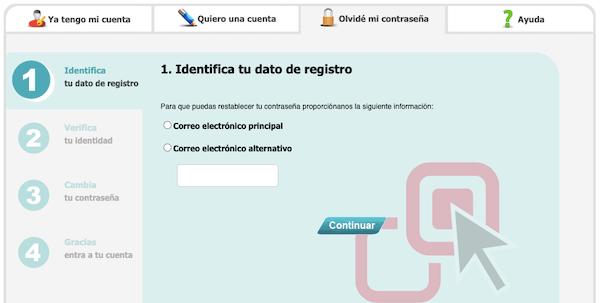 Cómo recuperar contraseña de acceso a Mi portal infonavit