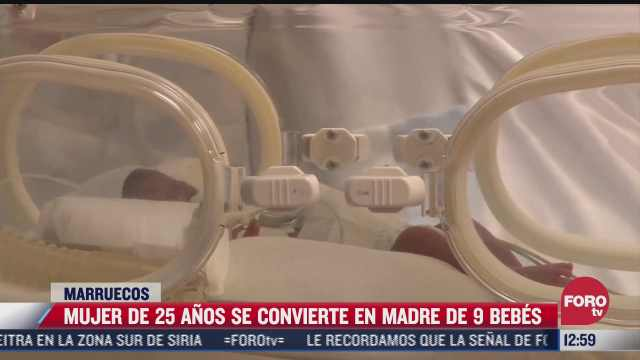 mujer da a luz a nueve bebes en marruecos