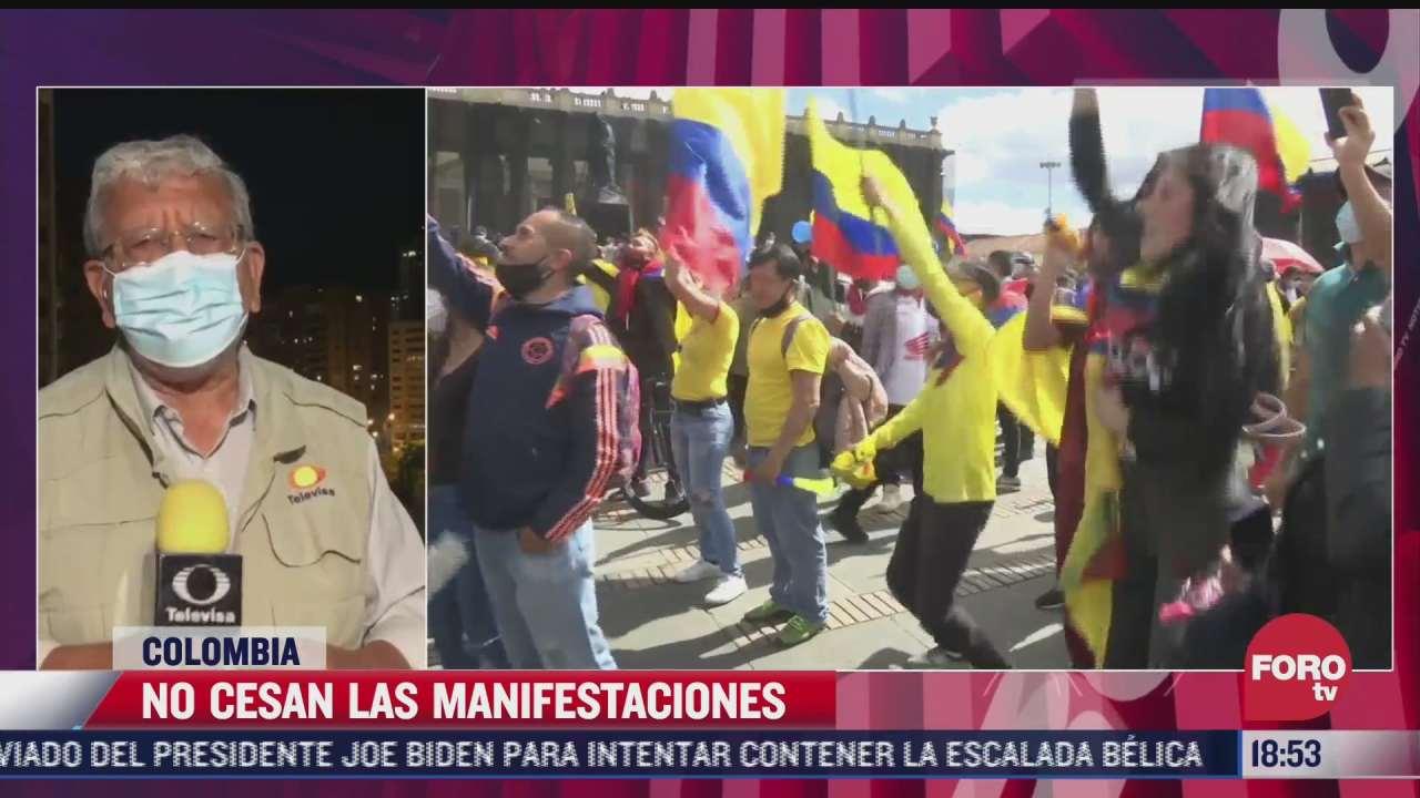 no cesan movilizaciones en colombia