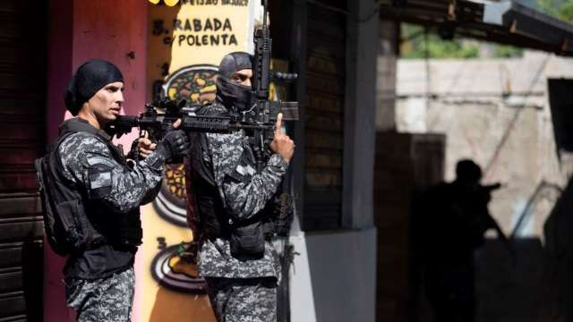 Operativo contra narcotraficantes en Brasil