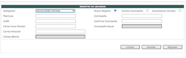 Portal Tarjetón IMSS Contraseña Imagen